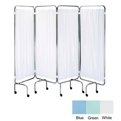 Plastic Screen Curtains - White (Set of 4)