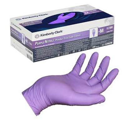 Safeskin Purple Nitrile Gloves Sterile - Medium (50 Pairs)