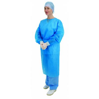 Blue Long Sleeve Gowns with  Elasticated Cuffs (50)
