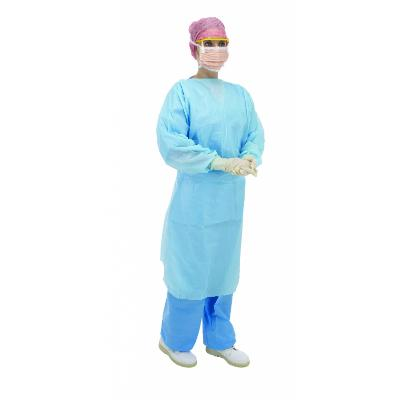 Blue Long Sleeve Fluid Protection Gown with Thumb Loops (100)