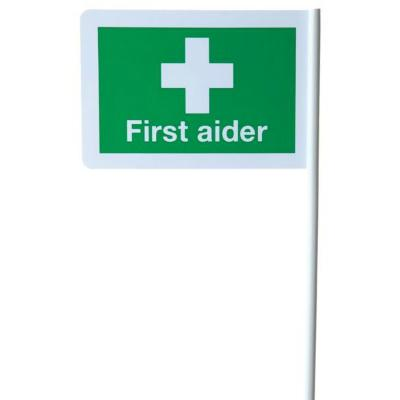 First Aid Flags (Desk or Wall Mountable)