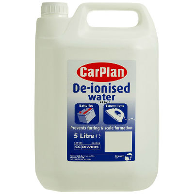 De-ionised Water - 5 Litre