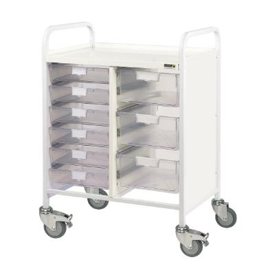 Sunflower Vista 60 Trolley - 6 Single 3 Double Clear Trays