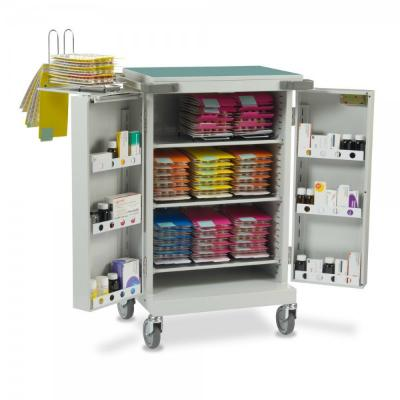 Drug Trolley Double Door - 109.5 cm x 53 cm x 67 cm